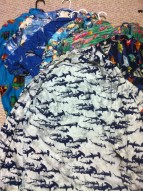 The many fish-themed Hawaiian shirts of shark researcher David Shiffman. (Image Credit: David Shiffman)